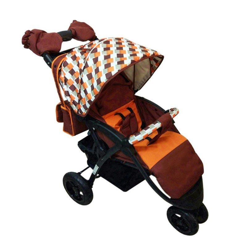 Коляска Babyhit Babyhit Прогулочная коляска Voyage Air (коричневая с оранжевым)